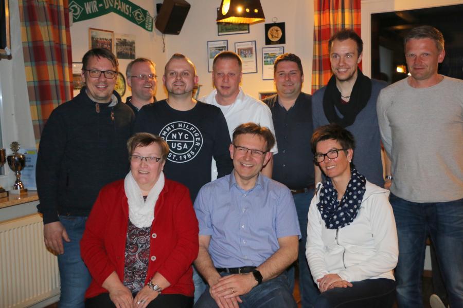 Vorstand 2018 -Michael Dröscher, Björn Dageförde, Hendrik Kloppert, Marc Hiller, Henning Heemann, Leif Schlüter, Dennis Bartz (v.l.). Marlen Hellberg, Georg Krüger, Susanne Müller