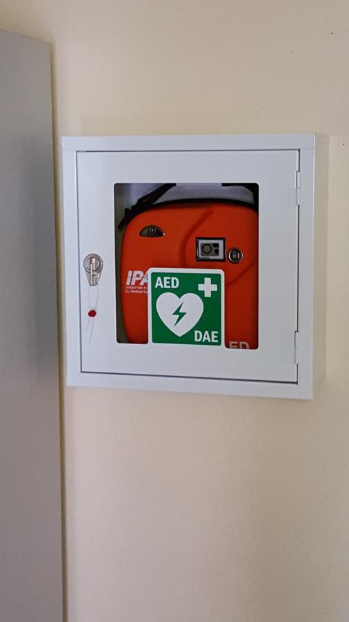 AED im Aufbewahrungskasten