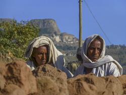 Aethiopische Bauern beim Weihnachtsfest