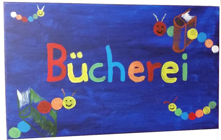 Buecherei-Schild