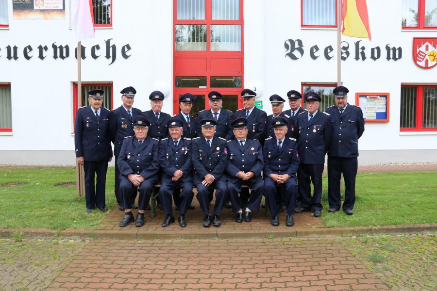 Ehrenabteilung Beeskow in Uniform