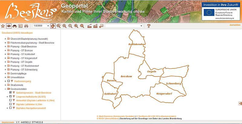 Geoportal Beeskow