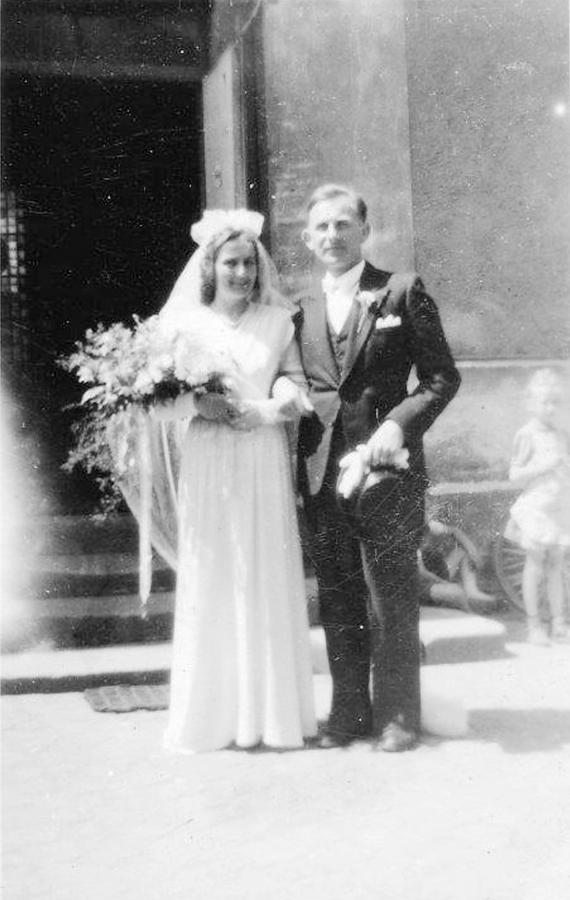 Hochzeit Albertine und Hans Thürkow am 22.5.1948