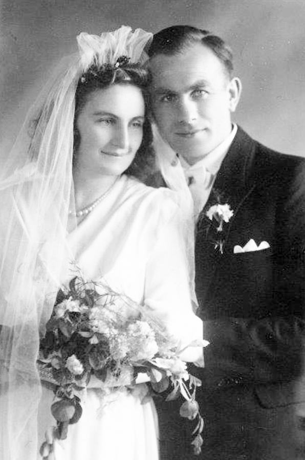 Hochzeitsfoto Albertine und Hans Thürkow