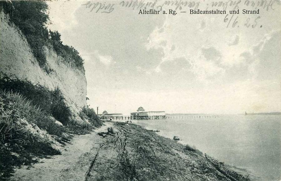 Altefähr a. Rg. Badeanstalten und Strand