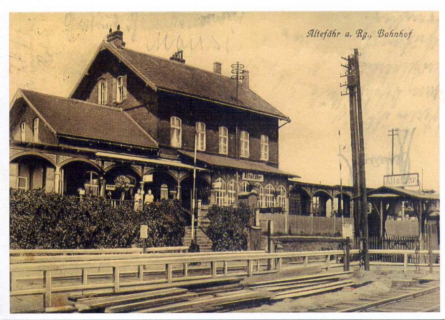 Altefähr a.Rg. Bahnhof Reprint
