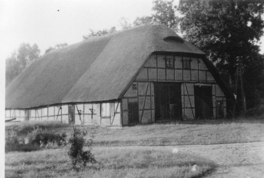 Alter Forsthof Wabel - Scheune mit Reetdach