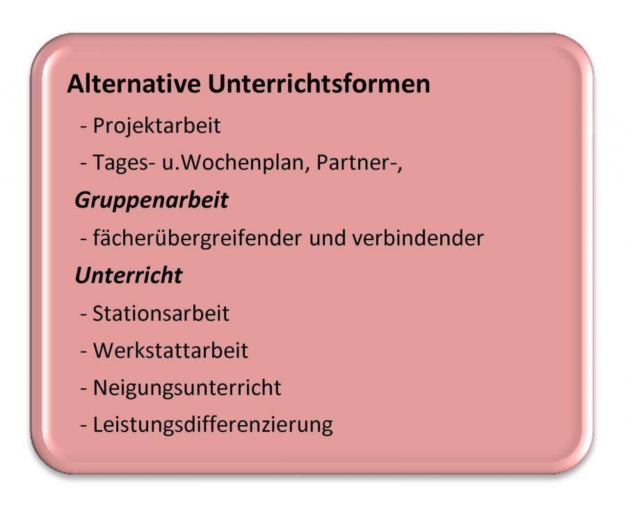 Alternative Unterrichtsform