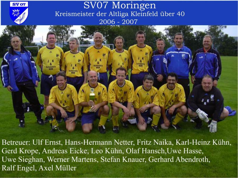 Altherren  2006 - 2007