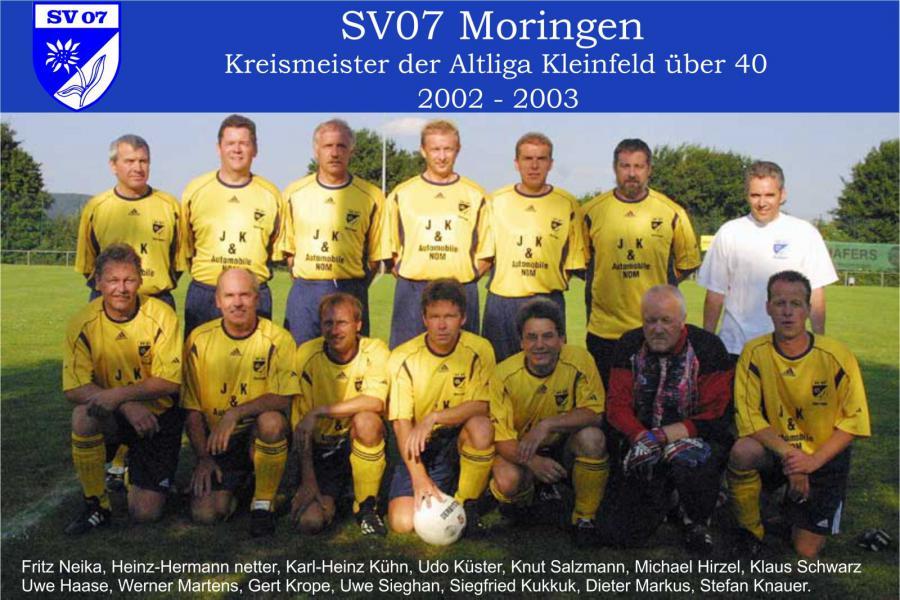 Altherren ü40 2002 - 2003