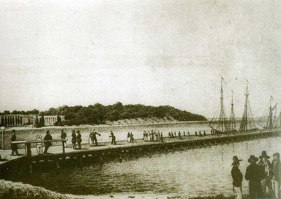 Am Lauterbacher Hafen um 1850