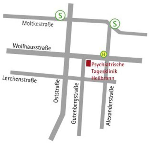 Anfahrtsskizze Tagesklinik Heilbronn