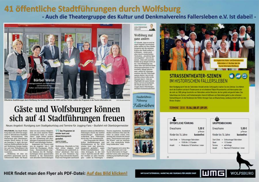 Stadtführungen durch Wolfsburg 2018
