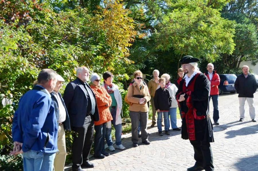 Bei den szenischen Führungen können die Besucher voll und ganz in die Geschichte Bodenwöhrs eintauchen.