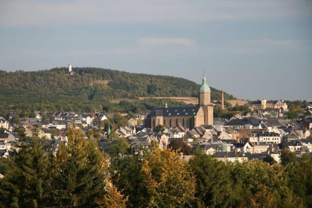 Blick auf Annaberg-Buchholz und St.Annen Kirche