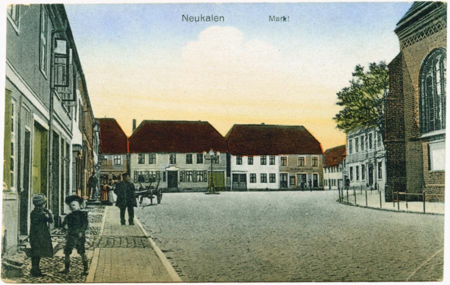 """Ansichtskarte """"Markt"""""""