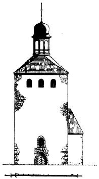 Ansicht der Westseite (nach Kubach & Seeger, 1941)