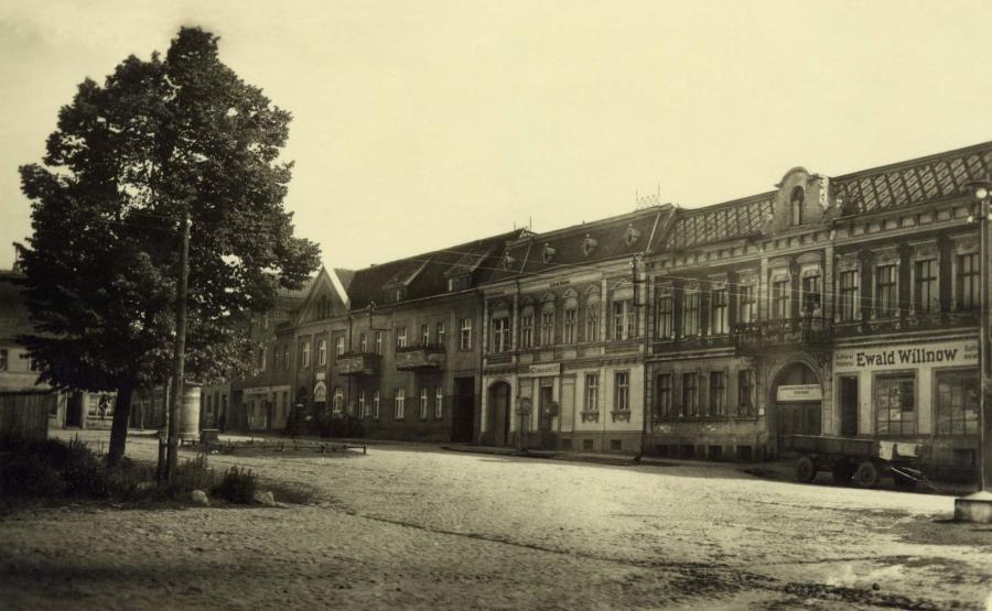 Ansicht vom Marktplatz 1950, ©Stephan Becker, Brüssow