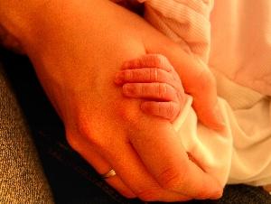 Hand-halten