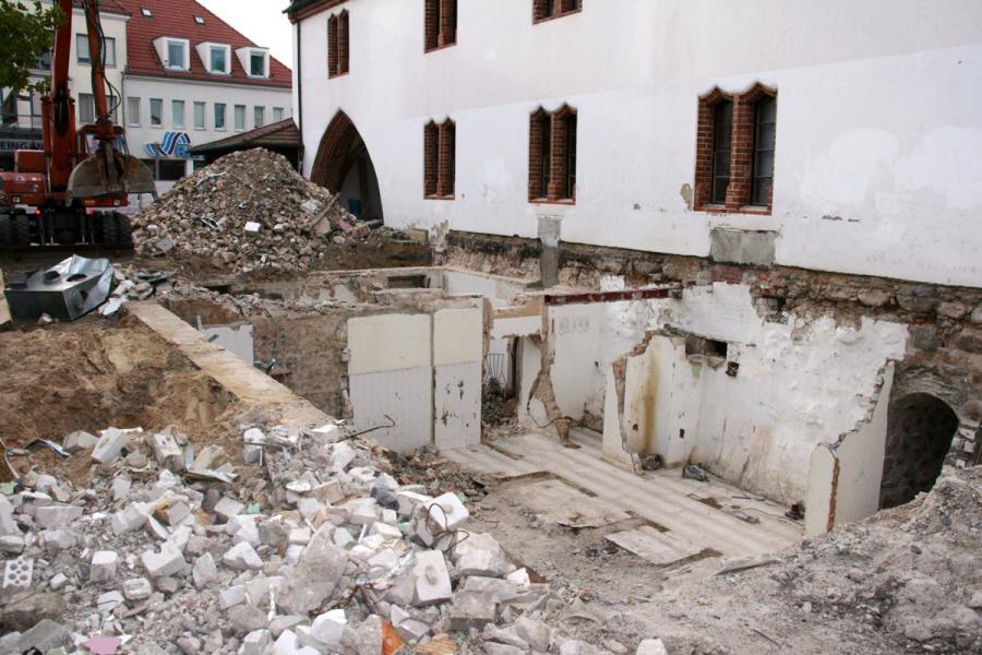 Altes Rathaus während der Umbauarbeiten
