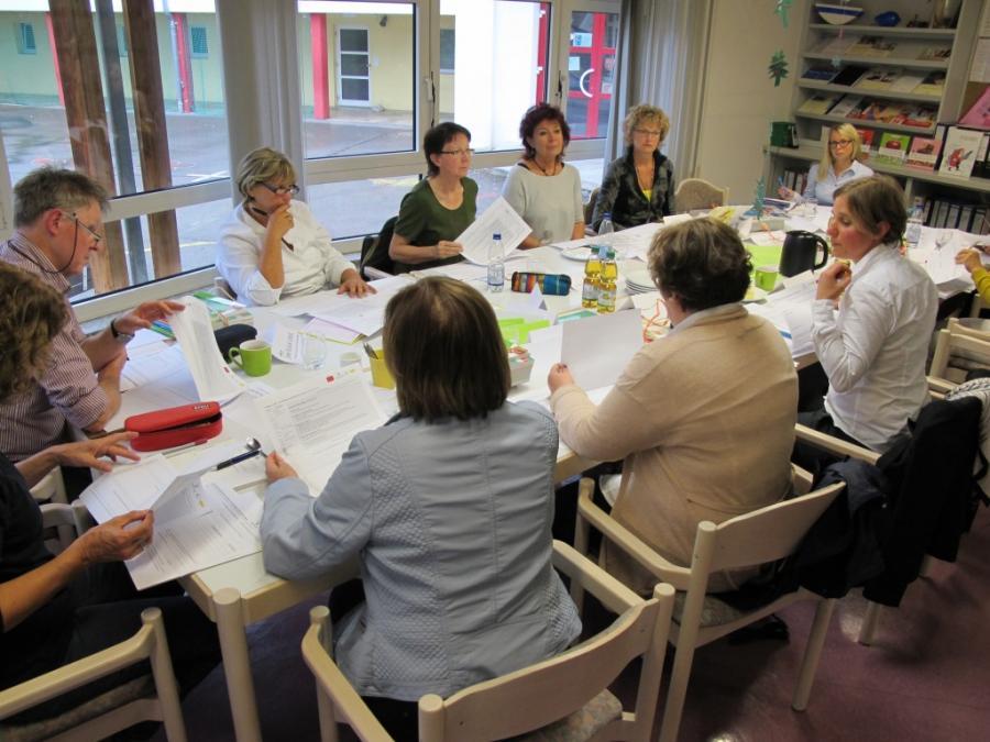 Arbeitstreffen der Projektschulen an der Grundschule Benningen