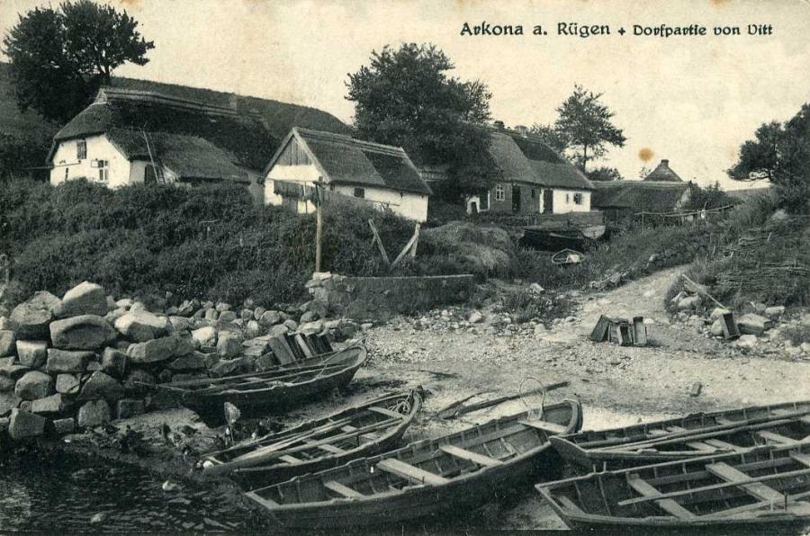 Arkona a. Rügen Dorfpartie von Vitt