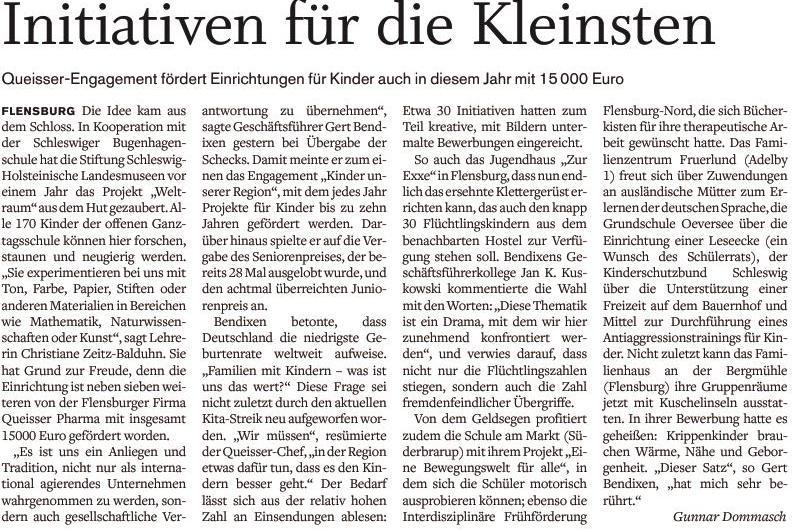 Artikell Flensburger Tageblatt