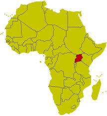 Uganda Landkarte