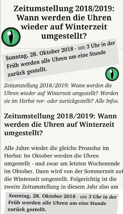 Winterzeit 2018