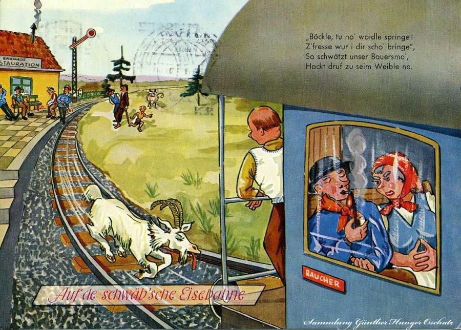 Auf de schwäbsche Eisenbahne