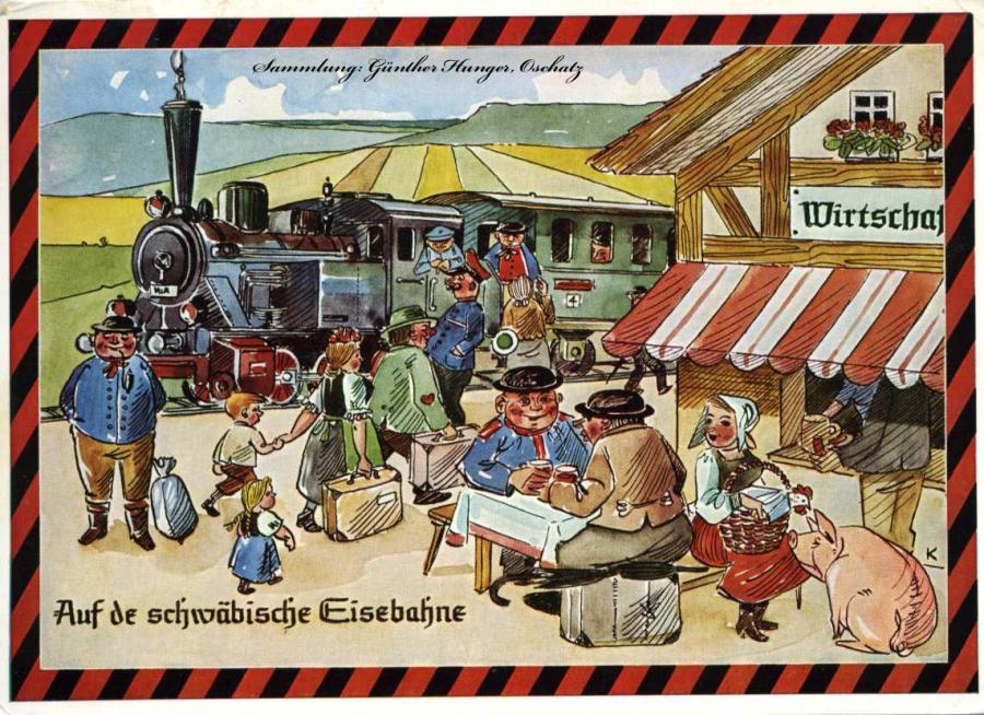 Auf der schwäbische Eisenbahne