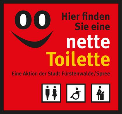 Nette Toilette Aufkleber