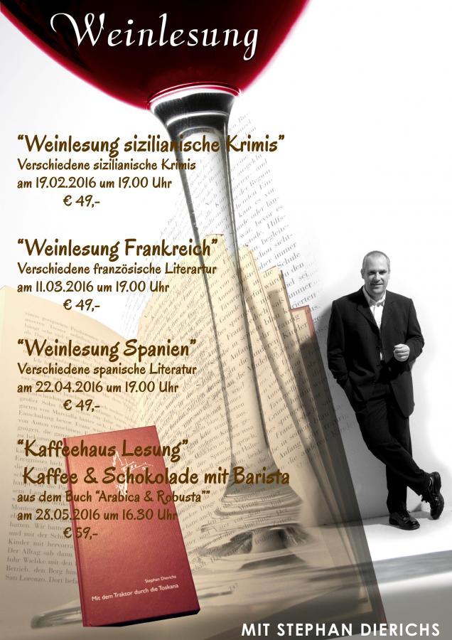 Weinlesungen mit Stephan Dierichs im Vanille & Koriander