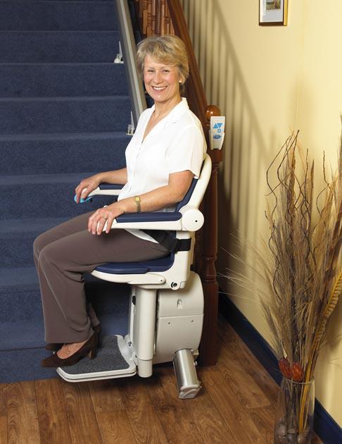 Der Sitzlift TL Mini für gerade Treppenverläufe