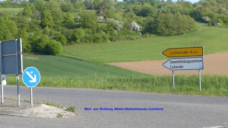 aus Richtung Alheim-Sterkelshausen
