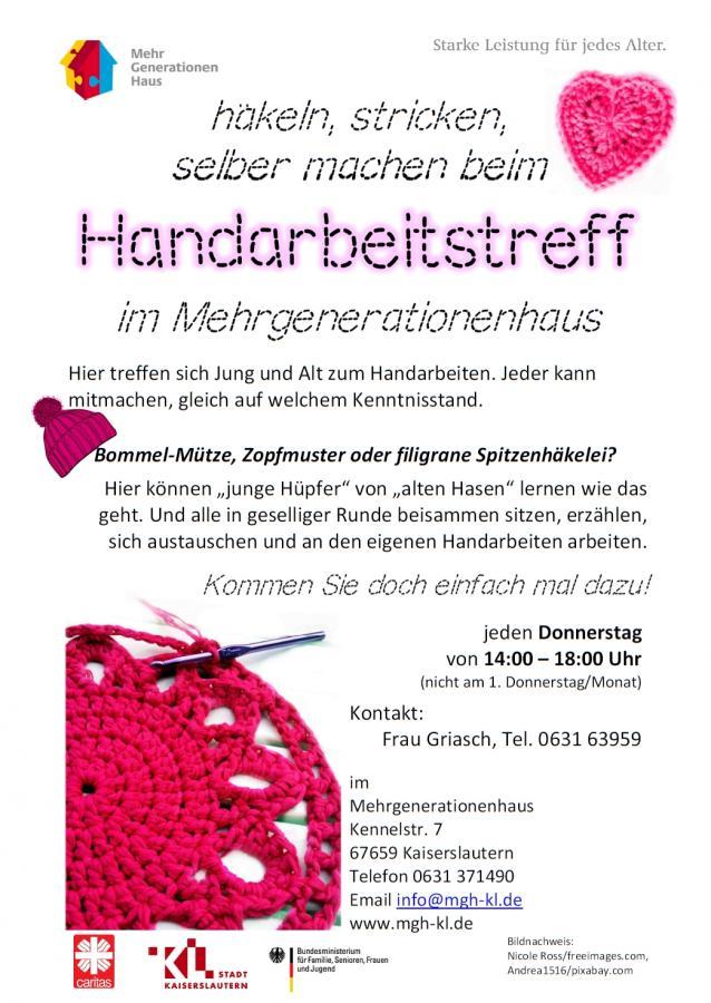Handarbeitstreff im Mehrgenerationenhaus Kaiserslautern