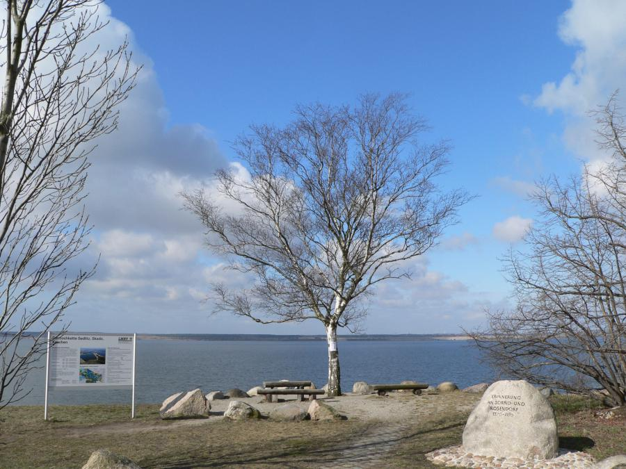 Aussichtpunkt am Sedlitzer See bei Lieske