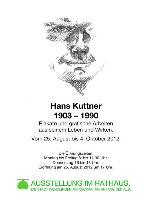 Ausstellungsplakat Hans Kuttner