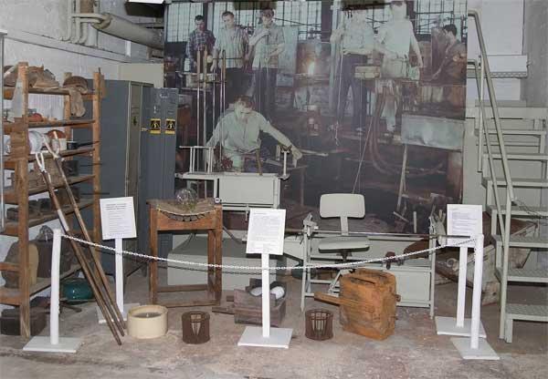 Ausstellungsraum Glasherstellung