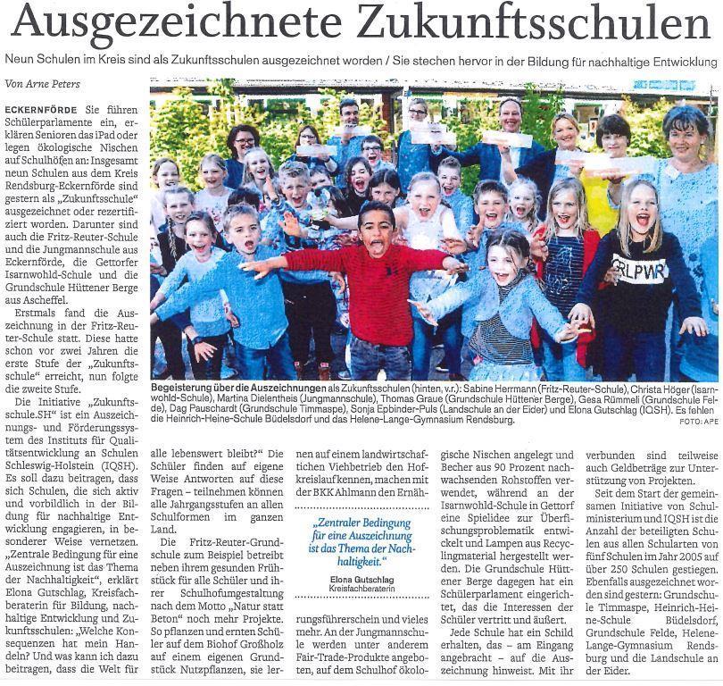 Artikel Auszeichnung Zukunftsschule 2019/20