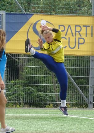 Sabine Leonhardt - ein starker Rückhalt im Tor