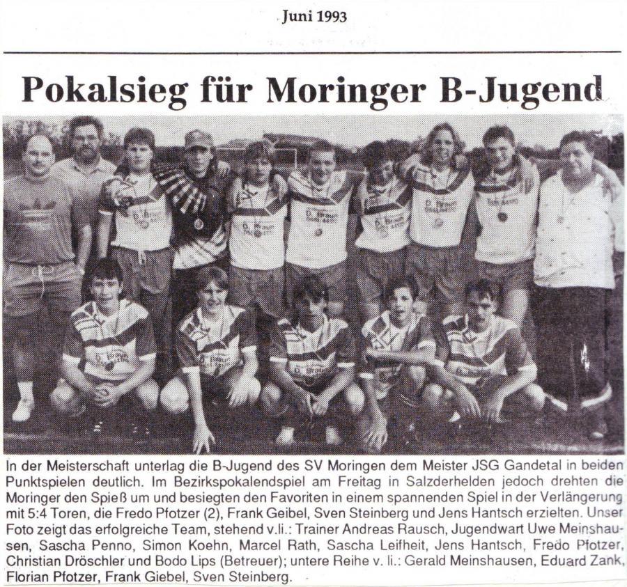 B-Jugend 1992 - 1993