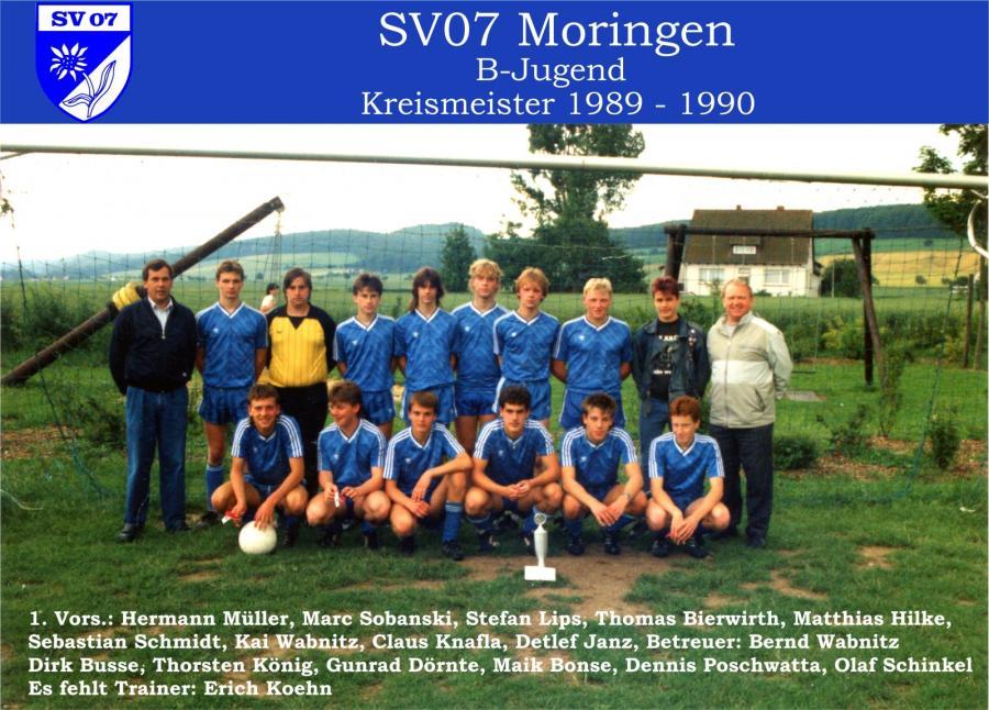 B-Jugend 1989 - 1990