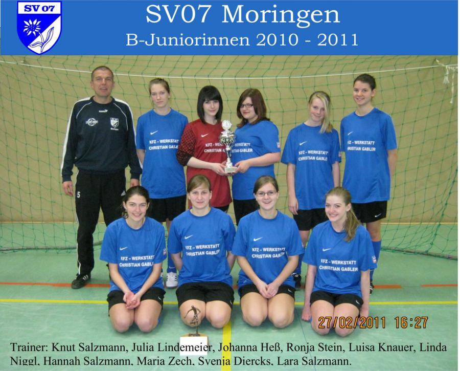 B-Juniorinnen 2010 - 2011