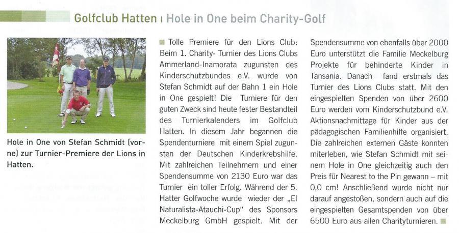 Golfmagazin Weser-Ems Sommer 2011