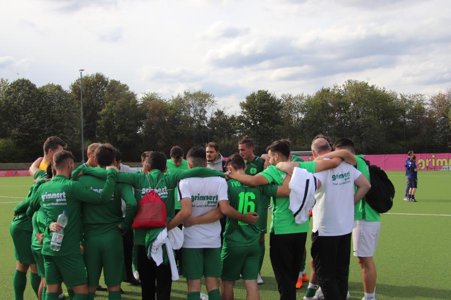 Teambesprechung nach dem Sieg