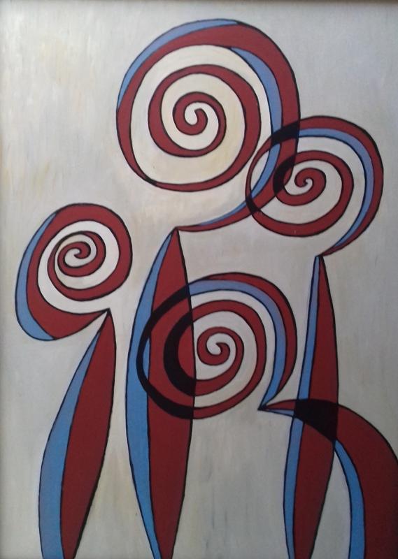 Ringelkopftierchen   I2018 Öl/Acryl auf Leinwand   100 x 140 cm