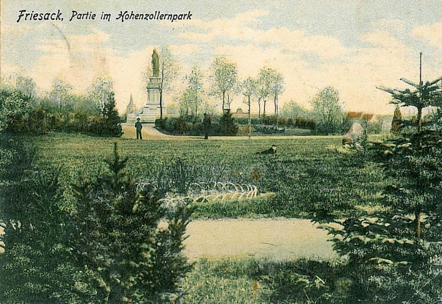 Stadtpark Friesack um 1910