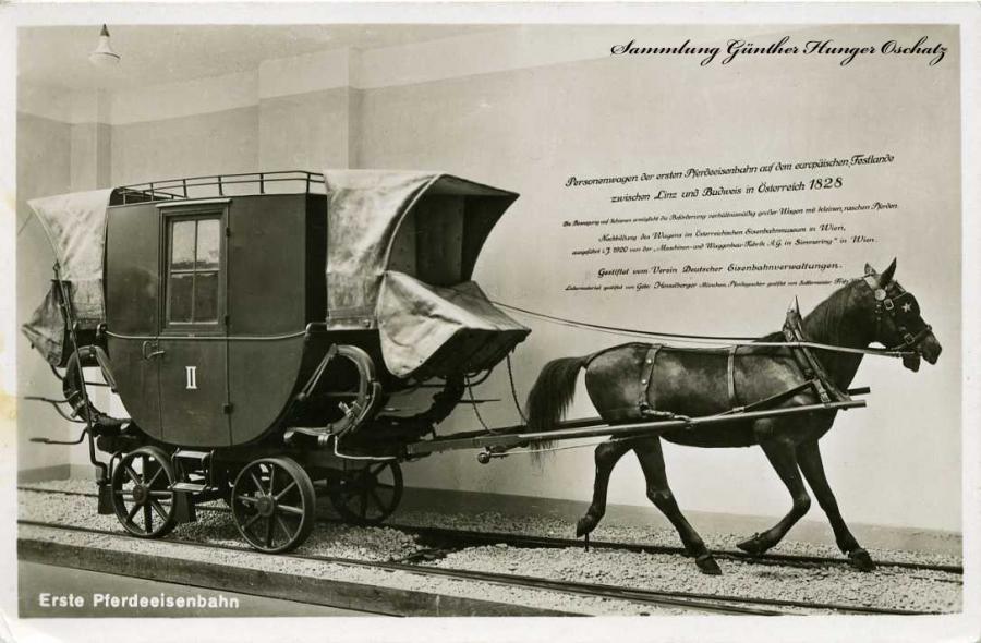 Erste Pferdeeisenbahn