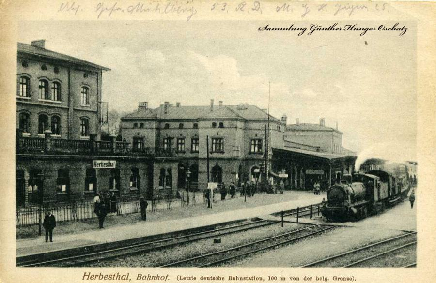 Herbesthal Bahnhof 1916